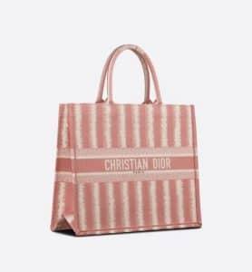 Dior Pink D-Stripes Book Tote