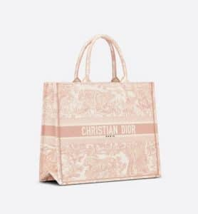 Dior Pink Toile De Jouy Book Tote