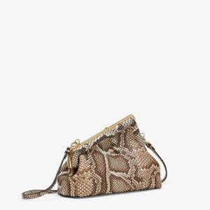 Fendi Natural Python Leather First Small