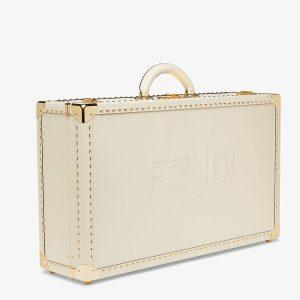 Fendi White Travel Case Large