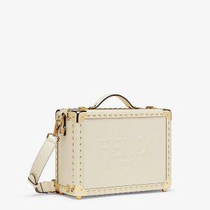 Fendi White Travel Case Small